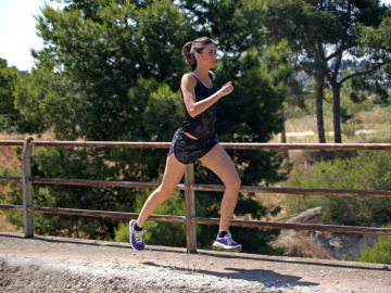 Una runner por el parque