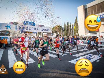 Así sería una maratón con emojis