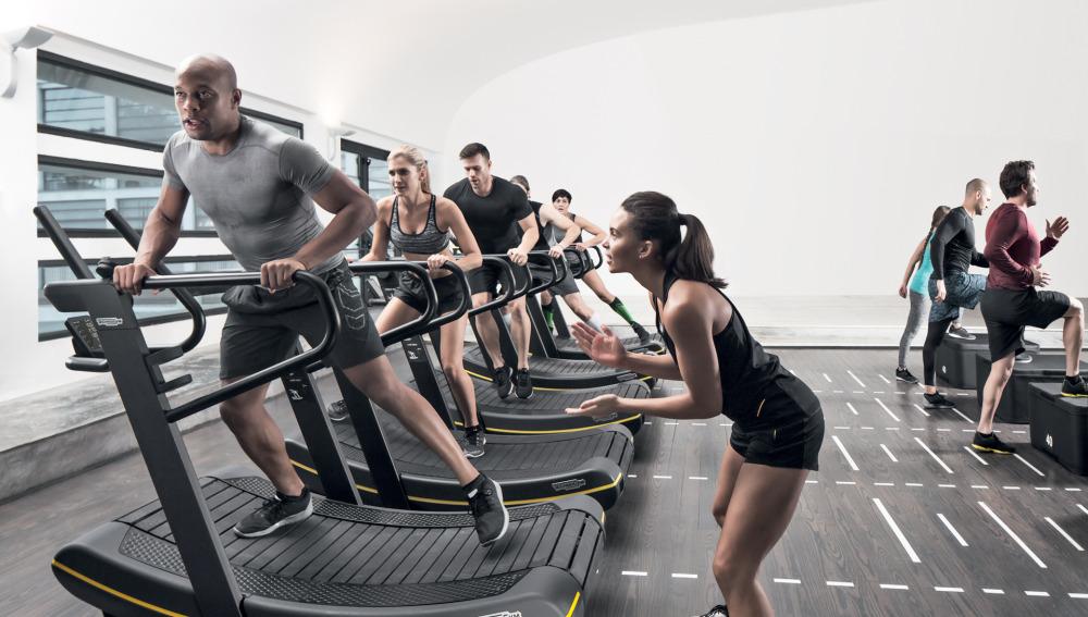 Máquina de correr en grupo