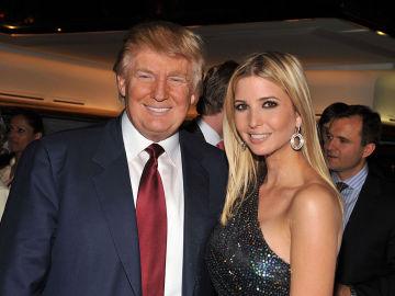 Ivanka Trump junto a su padre, Donald