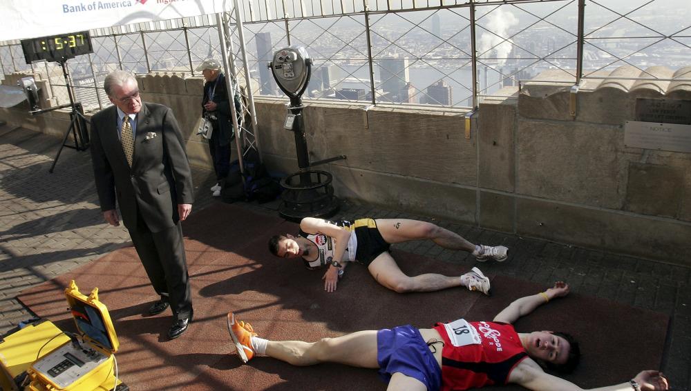 Unos corredores exhaustos