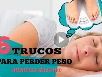 6 trucos para perder peso mientras duermes