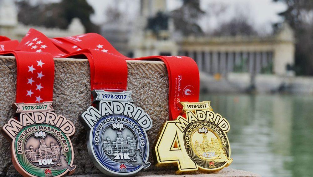 Medallas de la Maratón de Madrid 2017