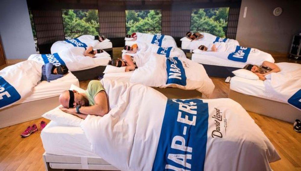 Las camas en la clase de siesta