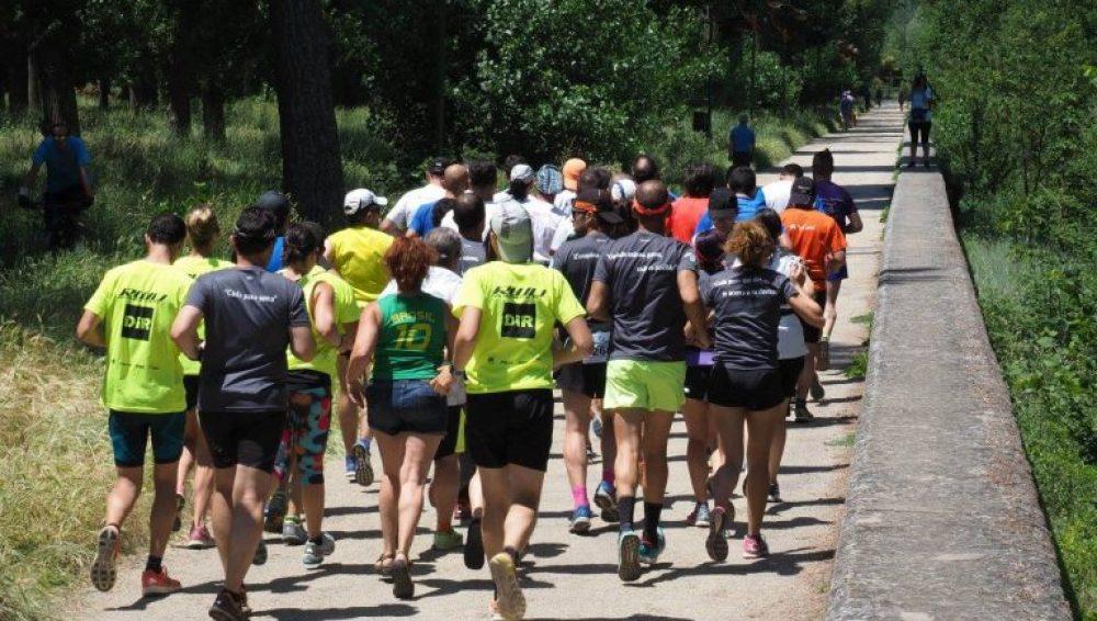 Corregrinos durante la tercera etapa disputada entre Burgos y León