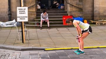Una técnica magistral para personas que aguantan poco tiempo corriendo.