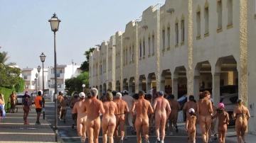 Participantes de la Carrera Nudista de Vera