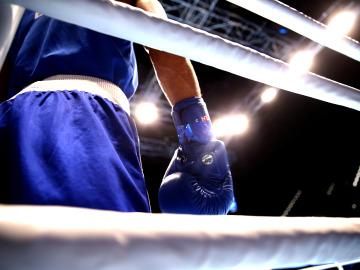 Un ring de boxeo