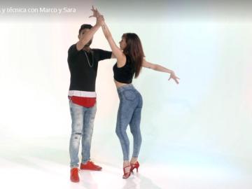 Los bailarines, Marco y Sara