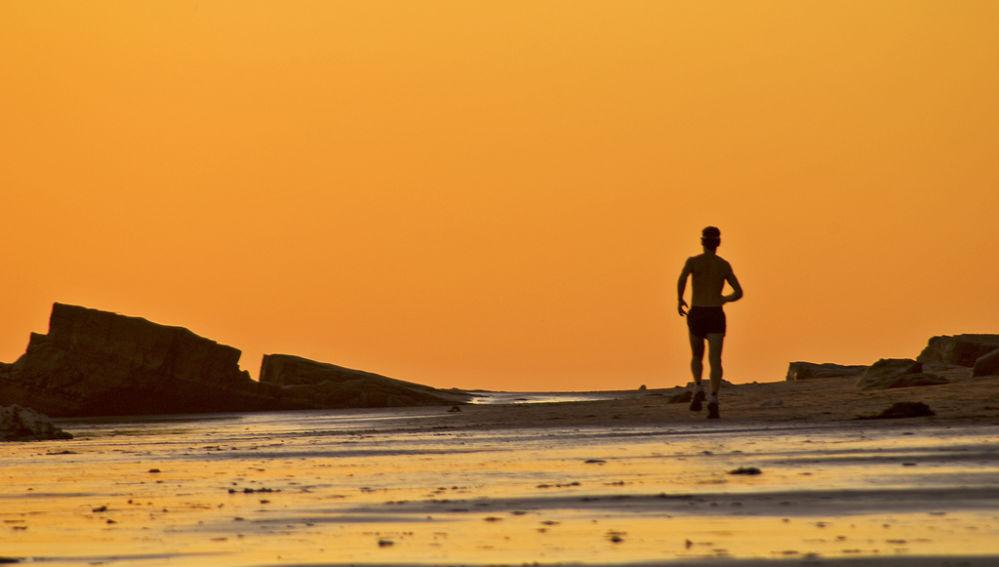 Runner por la playa