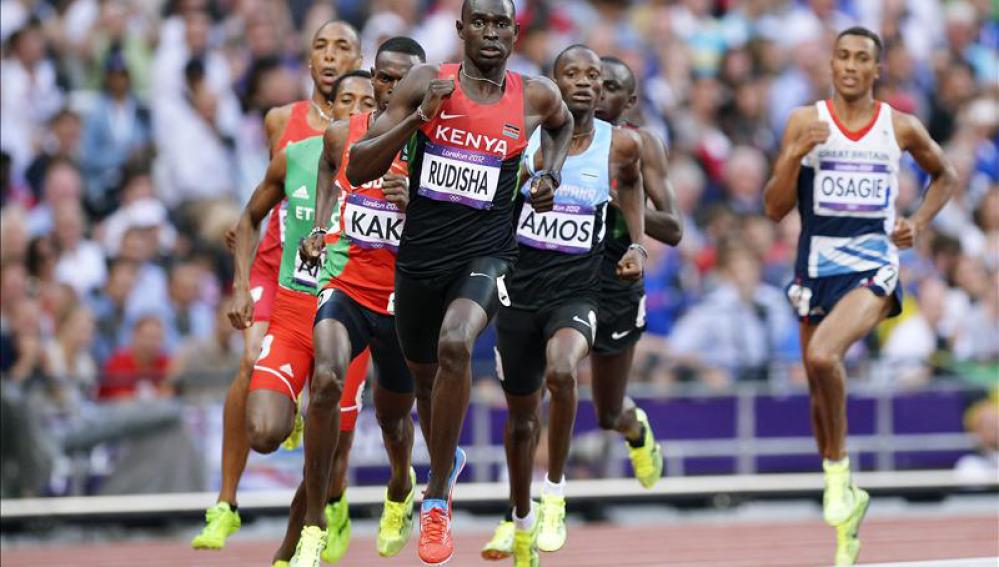 El atleta keniano Rudisha