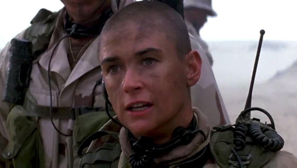 Demi Moore en la teniente O´Neil