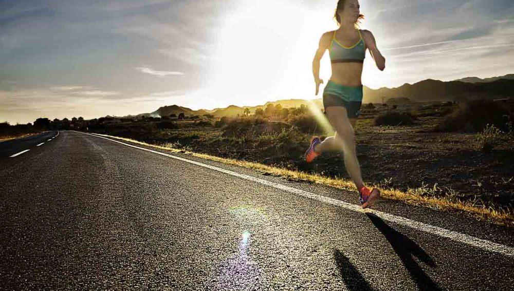 Paula Butragueño corriendo