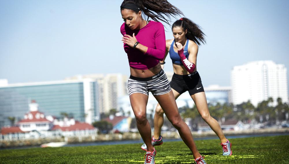 Posición postural haciendo running