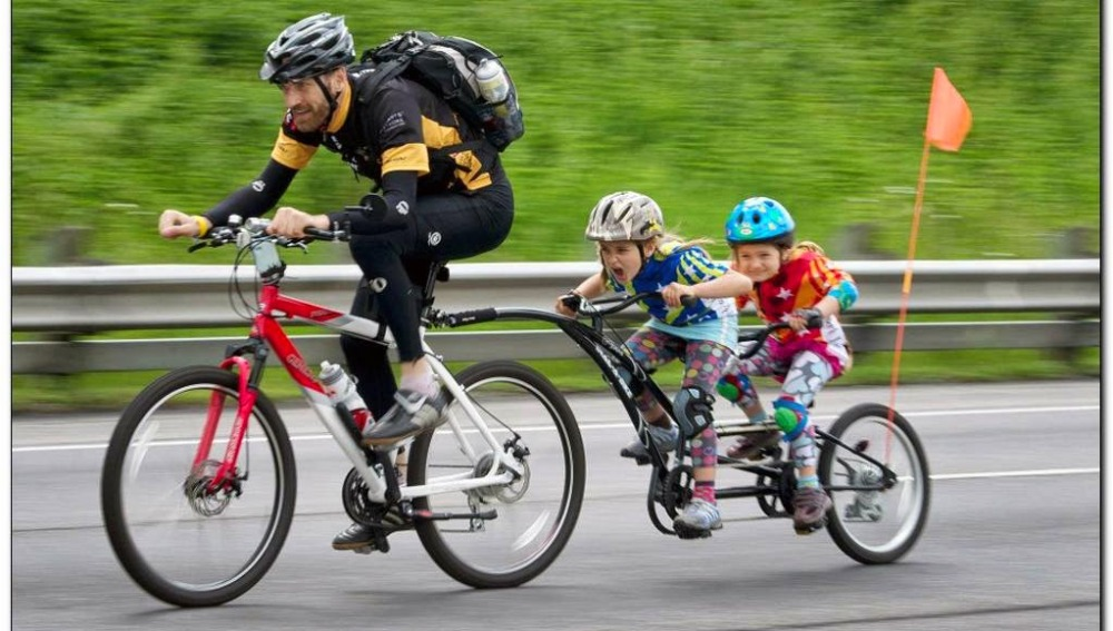 Remolques para niños en bici