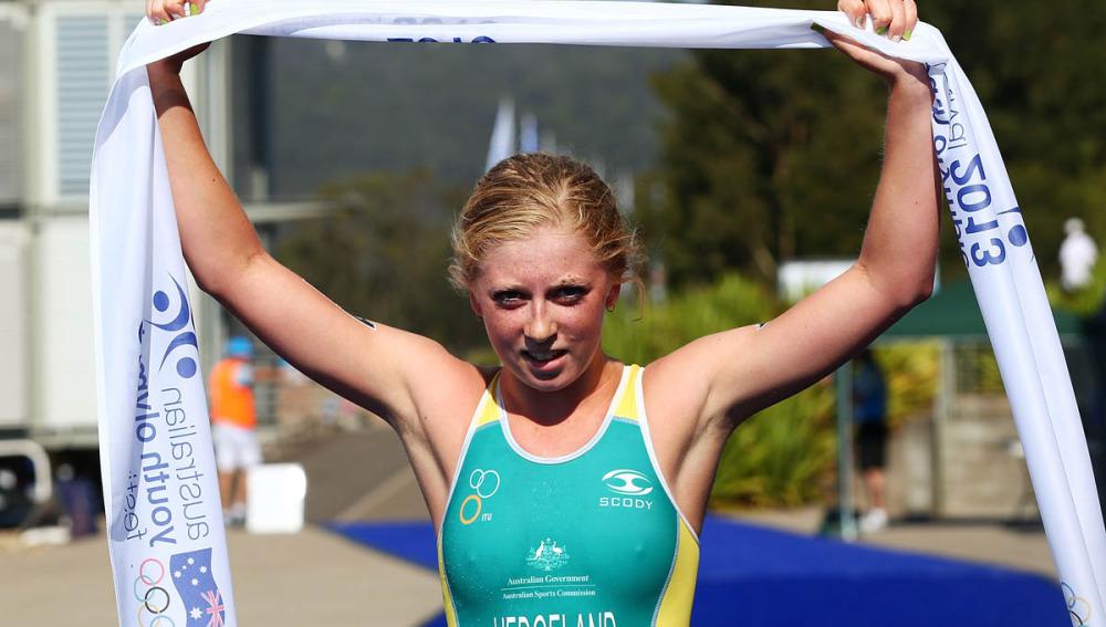 Ganadora de triatlón