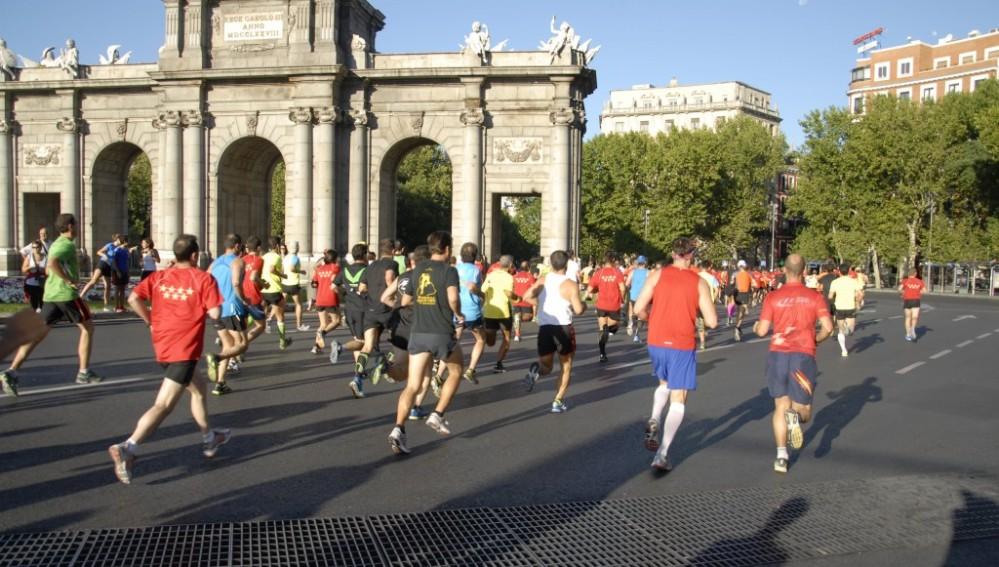 Correr por las calles de Madrid