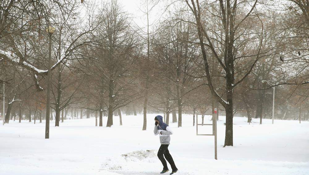 Practicando running en invierno