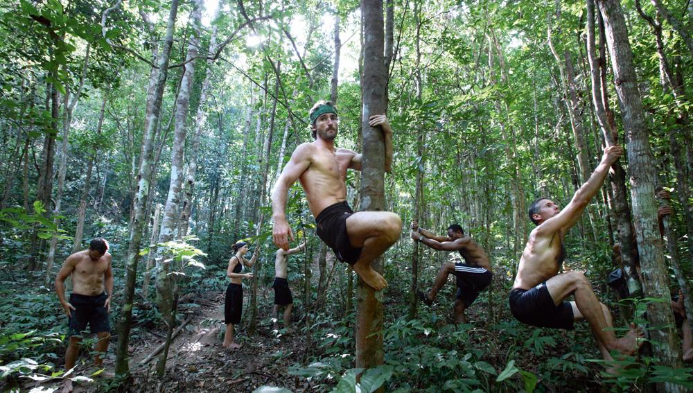 En pleno entrenamiento de Paleo Fitness