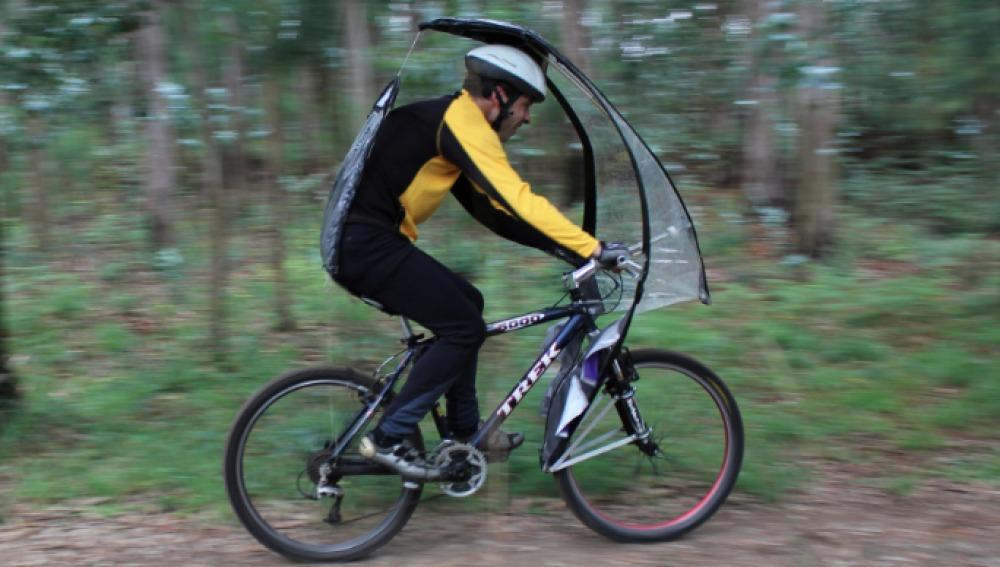 LeafXPro, un paraguas para que la nieve o la lluvia no te impida montar en bici