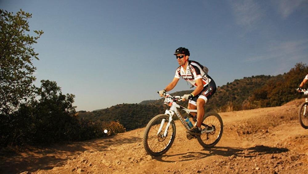Roberto Solozábal en bici
