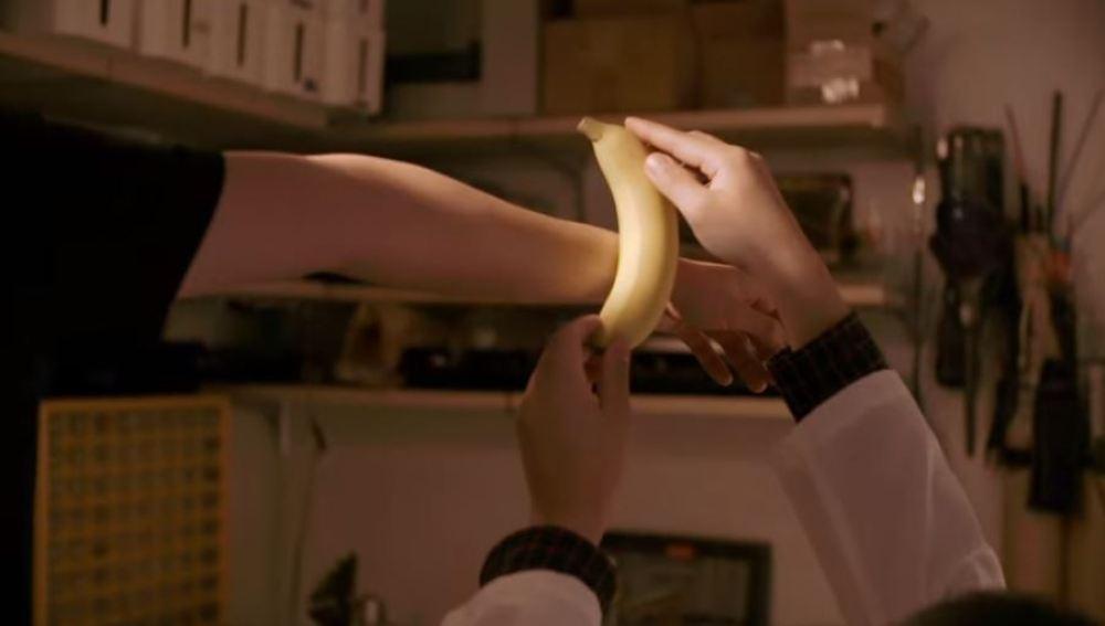 Prueba con el plátano weareable
