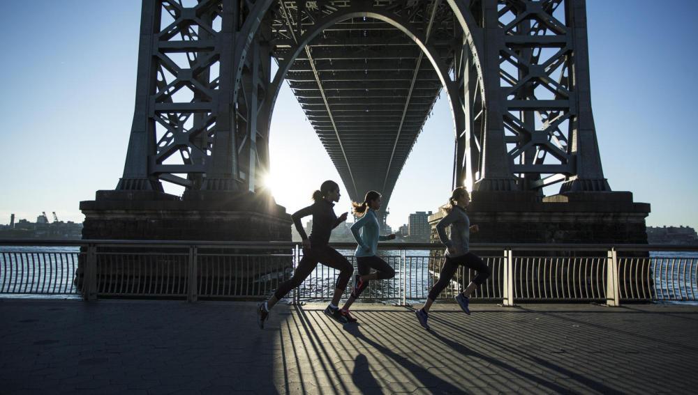 Mujeres corredoras del Nike Run Club