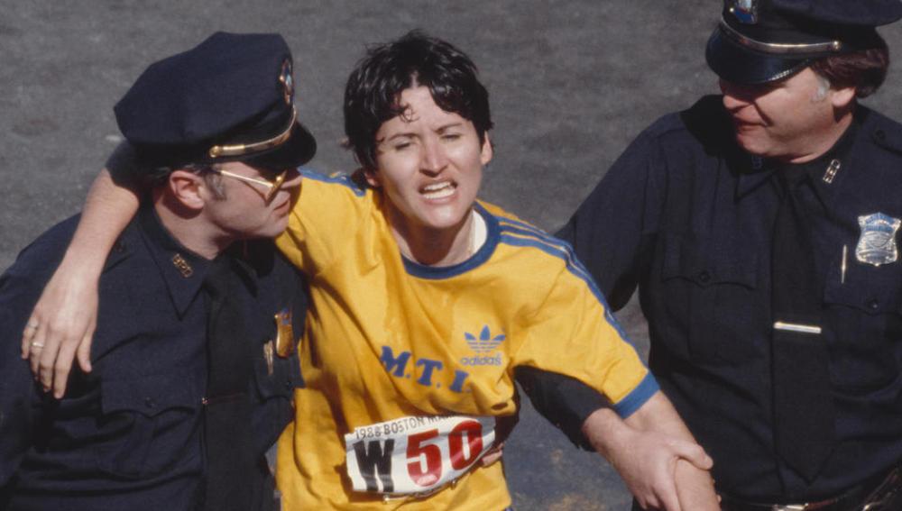 Rosie Ruiz, nada más acabar la Maratón de Boston