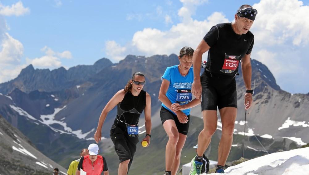 Corriendo por la montaña en la carrera de Davos