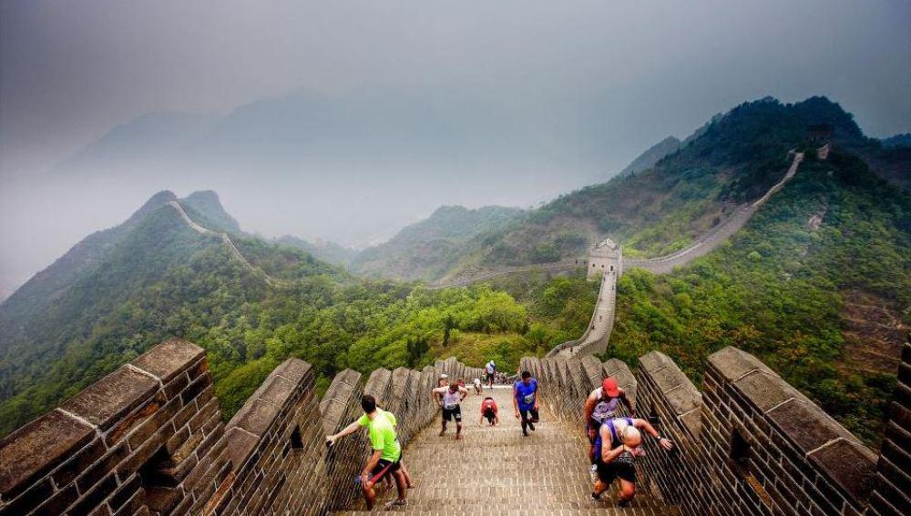Hay que estar en forma para subir la Gran Muralla China