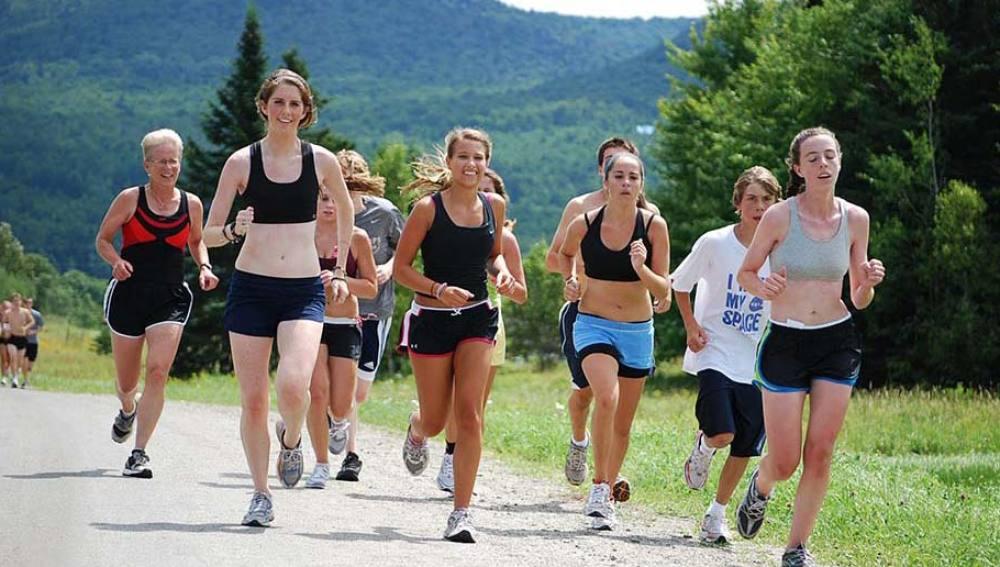 Participantes en un running camp
