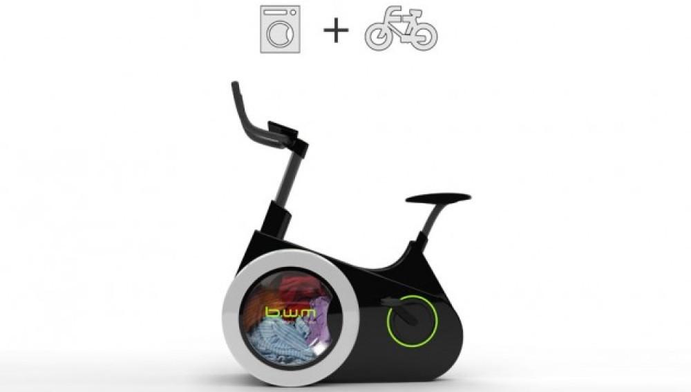 Bici que sirve también para lavar ropa