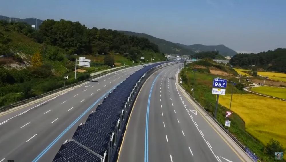 Carril bici solar de Corea del Sur