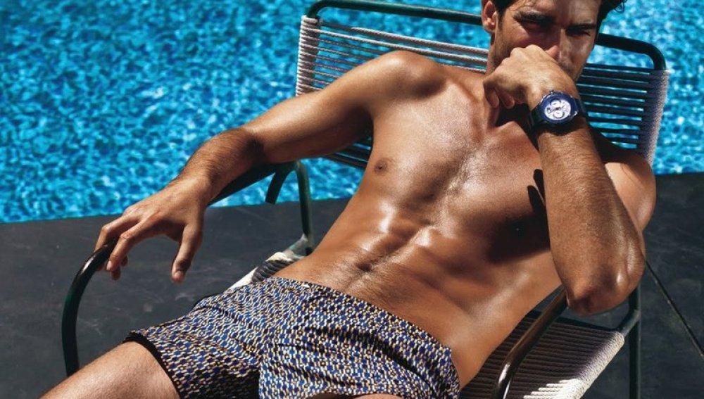 Rubén Cortada en la piscina