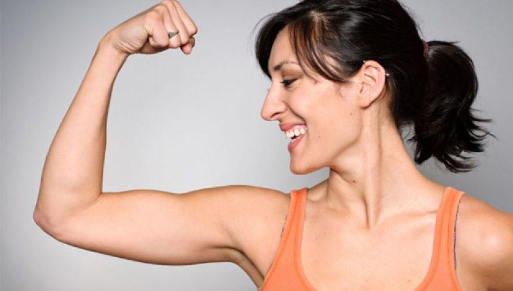 Presumiendo de bíceps