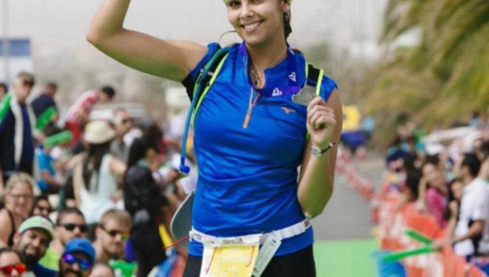 Cristina Pedroche tras finalizar una carrera