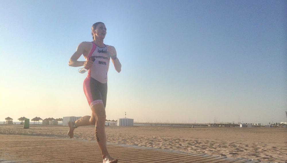 Participantes de la media triatlón de Valencia