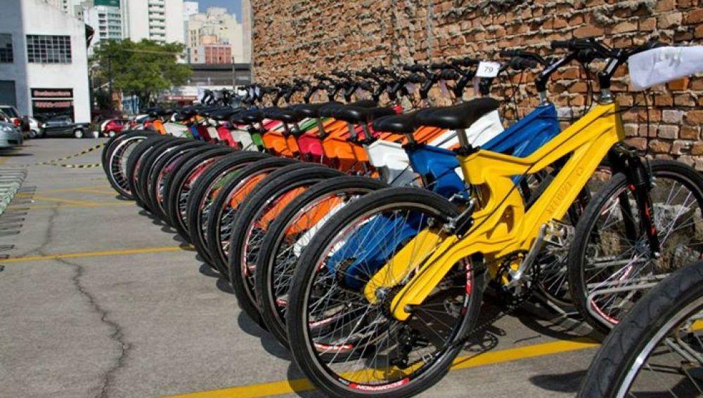Bicicletas fabricadas con botellas de plástico