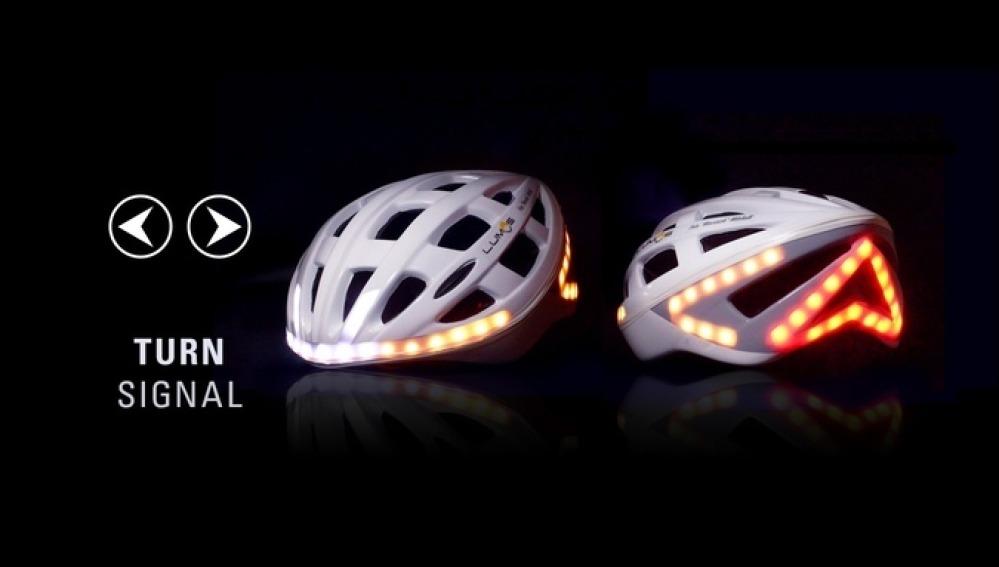 Casco brillante para ciclistas