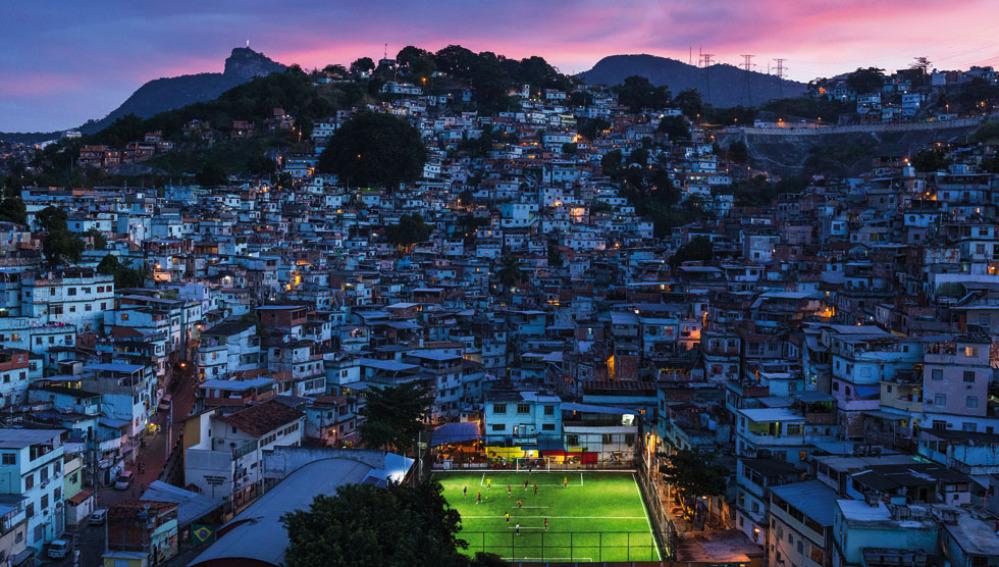Campo de fútbol en Río de Janeiro