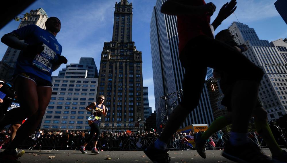 Participantes de la Maratón de Nueva York