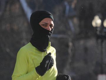Correr con frío y bien abrigado