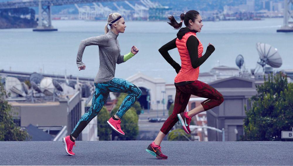 Corredoras con ropa deportiva