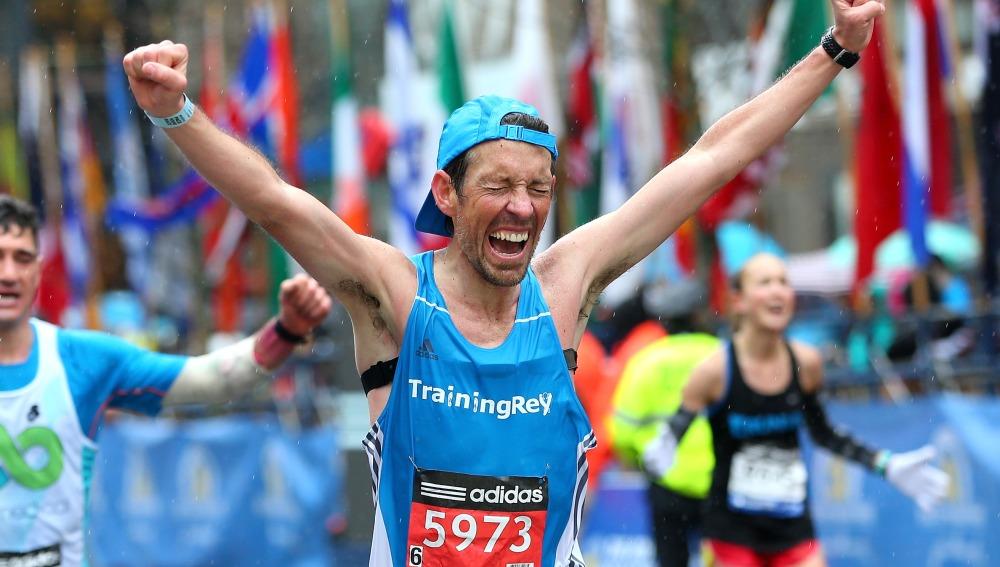 Un corredor al finalizar una prueba