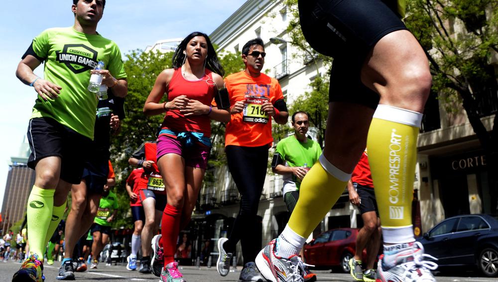 Unos corredores de maratón