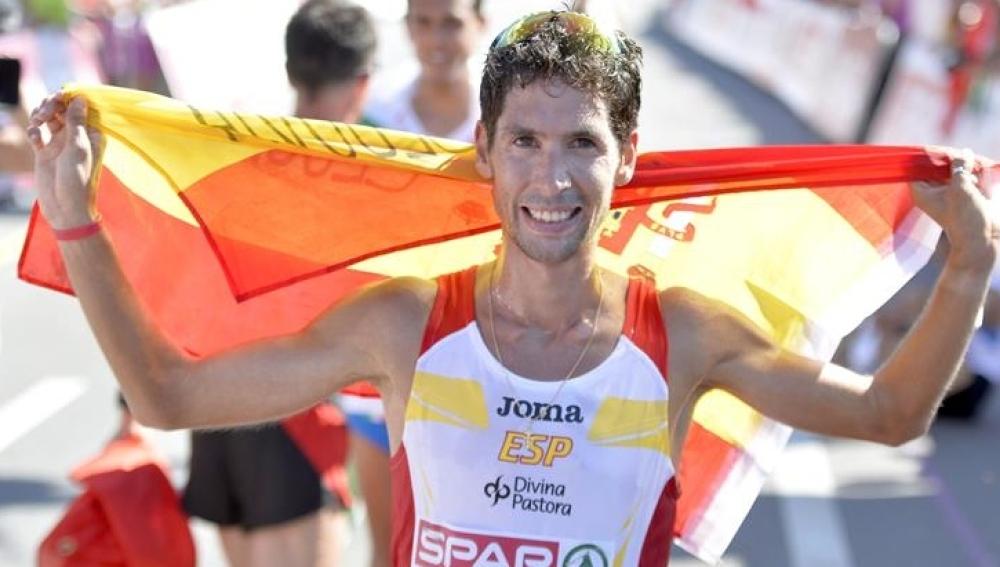 Javier Guerra en el campeonato de Europa