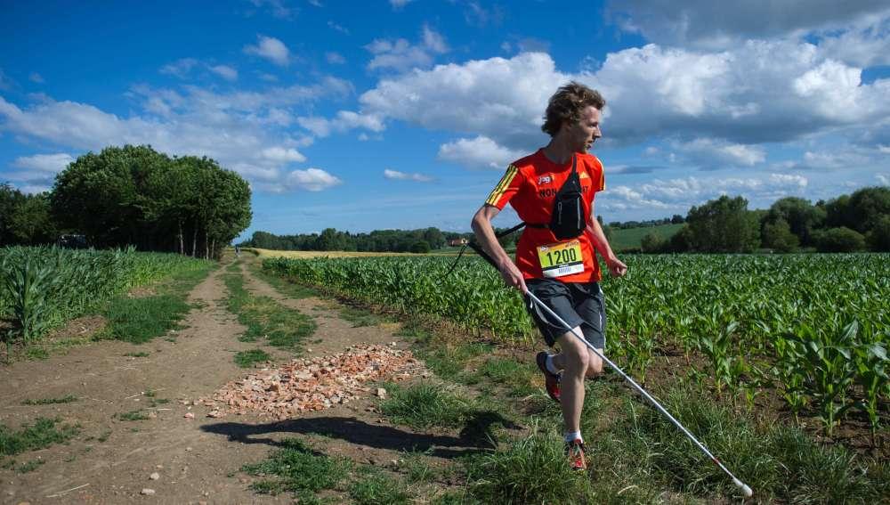Clement Gass en la carrera de montaña