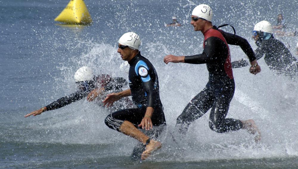 Participantes de Swim Run