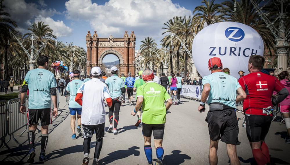 Corredores en la Maratón de Barcelona
