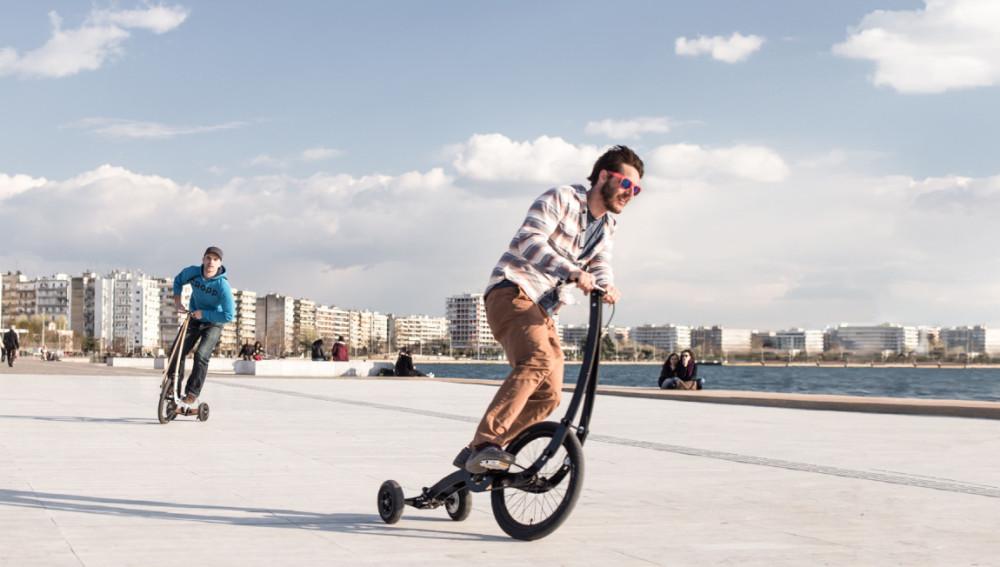 Halfbike II, un híbrido de bici y monopatín